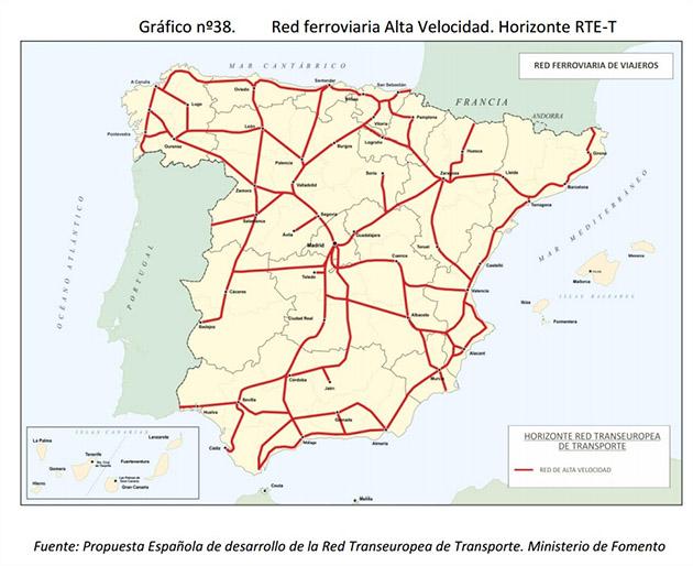 Red Ave España Mapa.Esperando La Estacion Del Ave En Vera